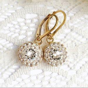 Handmade Light Silk Swarovski Crystal Earrings
